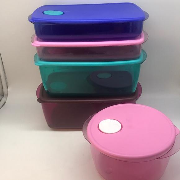Tupperware CrystalWave Bowls Set of 5